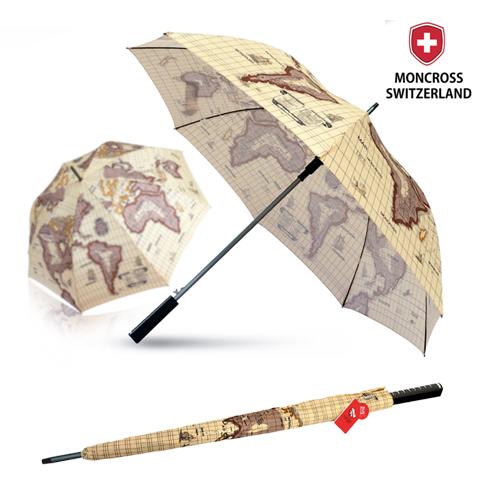 몽크로스 70 화이버 고지도 패턴 장우산