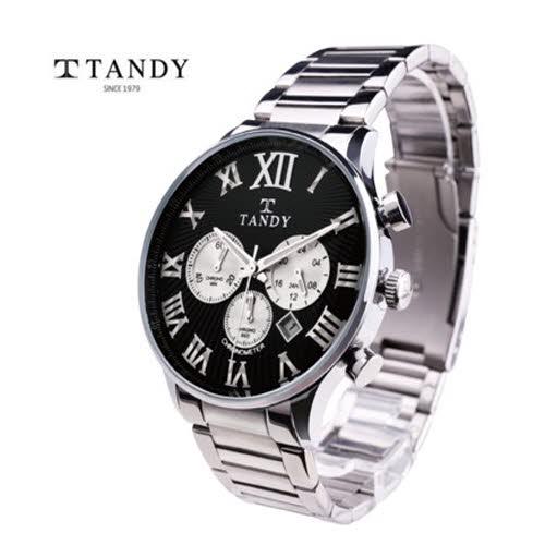 [TANDY]탠디 크로나 크로노 에디션 메탈손목시계 T3870-BK