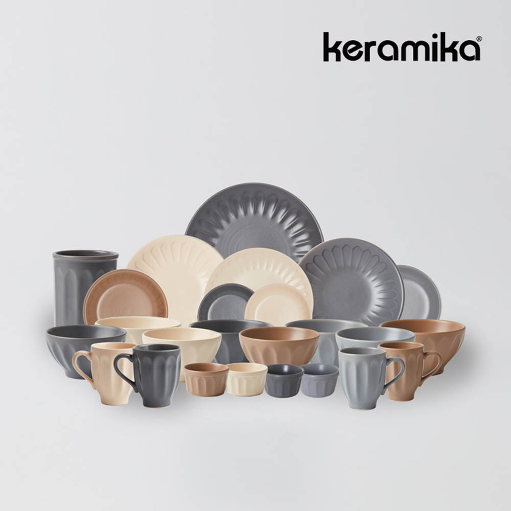 케라미카 바뎀 4인홈세트 25p 그릇 접시