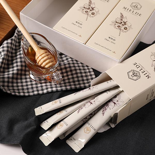 [면세]미엘드 천연벌꿀스틱 선물세트 (아카시아꿀2p+야생화꿀1p)