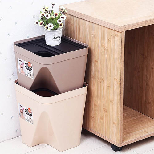 다용도 사각 휴지통 분리수거함 쓰레기통 소형(5836)