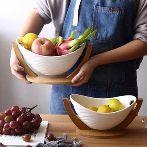 세라믹 과일 소품 쟁반 디저트 트레이 대형
