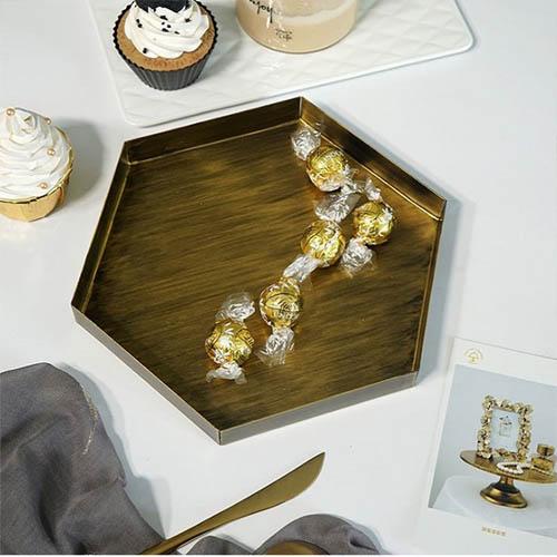 북유럽 육각 소품 트레이 대형
