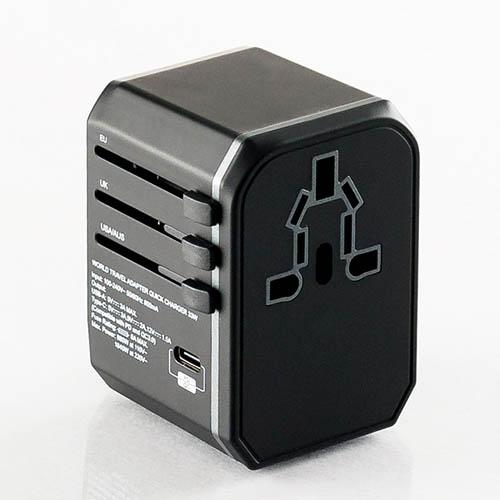 플라이토 여행용 QC3.0 PD충전 멀티아답터 3포트