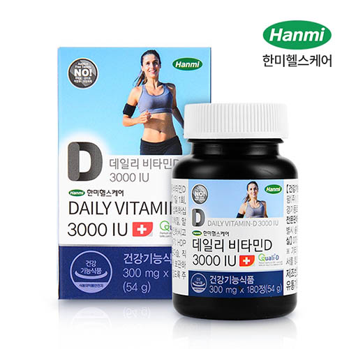 [2020 추석] 한미 데일리 비타민D 3000IU 6개월분 (300mg X 180정)