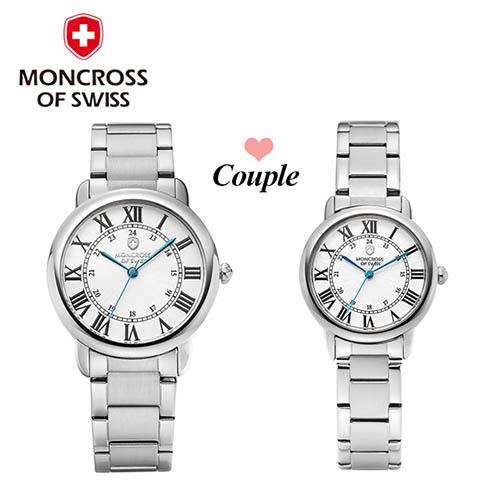 스위스몽크로스 남여커플 시계 MS 7841MF-WH
