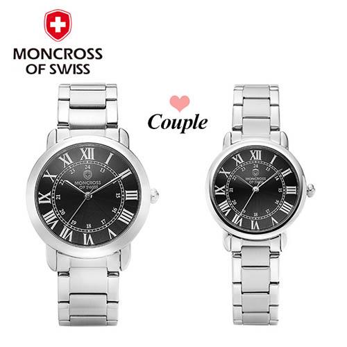 스위스몽크로스 남여커플 시계 MS 7841MF-BK