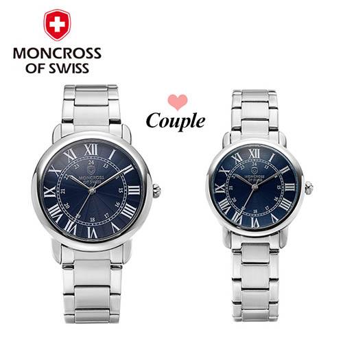 스위스몽크로스 남여커플 시계 MS 7841MF-BL
