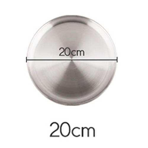 플라이토 국산 원형 스텐레스 다용도 쟁반 20cm