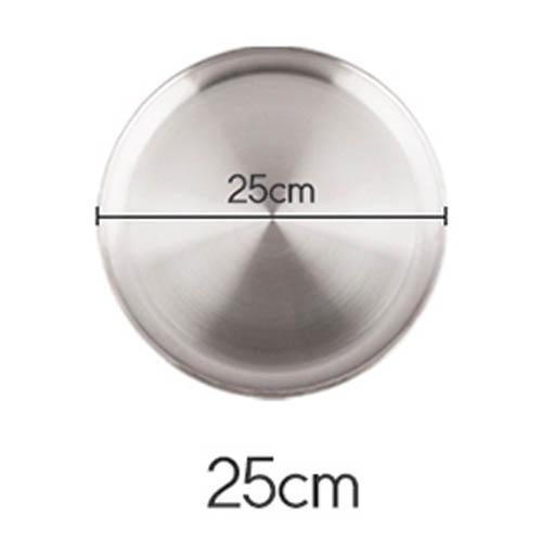 플라이토 국산 원형 스텐레스 다용도 쟁반 25cm