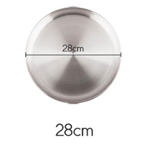 플라이토 국산 원형 스텐레스 다용도 쟁반 28cm
