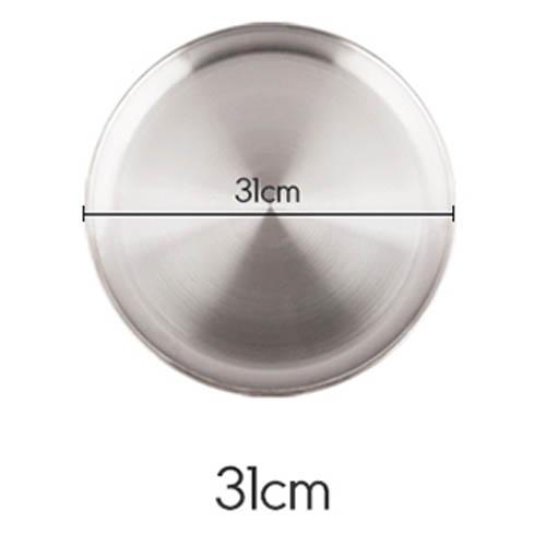 플라이토 국산 원형 스텐레스 다용도 쟁반 31cm