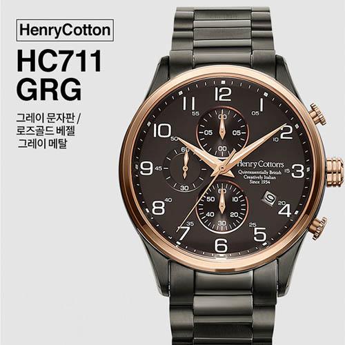 헨리코튼 2019년 신상품 손목시계 정품 70시리즈 HC711GRG