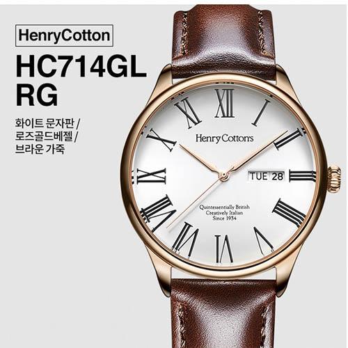 헨리코튼 2019년 신상품 손목시계 정품 HC714GL-RG