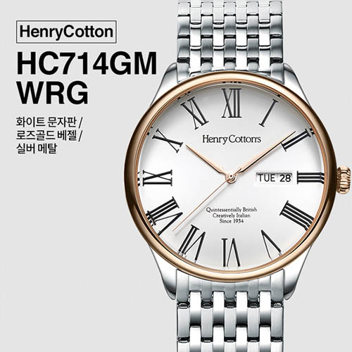 헨리코튼 2019년 신상품 손목시계 정품 HC714GM-WRG
