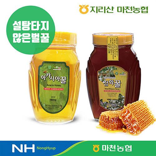 마천농협 잡화꿀(병) 1.2kg + 아카시아꿀(병) 1.2kg 1+1