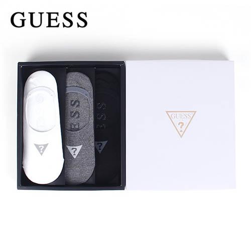 게스 남성용 덧신 3족 + 게스 쇼핑백