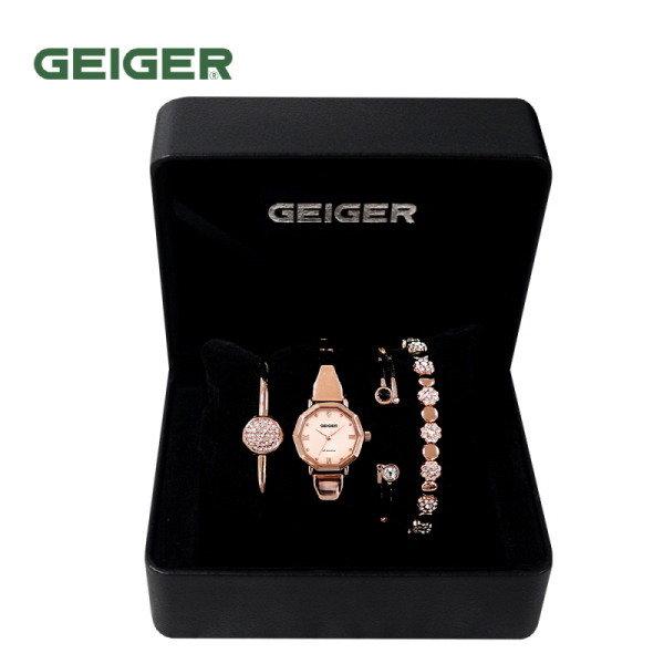 [GEIGER] SET 가이거 여성 메탈 시계 GE61200_RG
