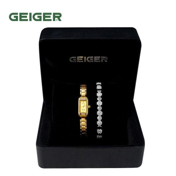 [GEIGER] SET 가이거 여성 메탈 시계 GE612014_GD