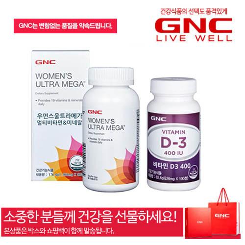 [GNC] 여성 활력 종합비타민 2종세트-선물박스+쇼핑백포함