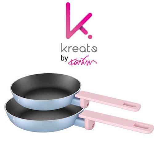 카림 키아라 인덕션 겸용 후라이팬 2세트(24cm+28cm)