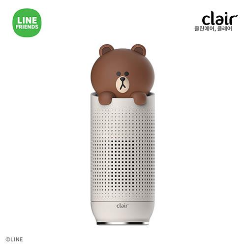 클레어 라인프렌즈 공기청정기 브라운 CAP-BF-PBR1