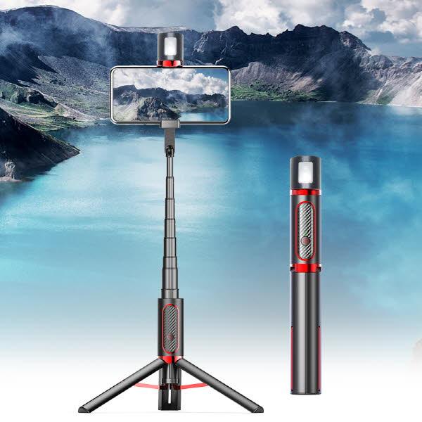 코비 블루투스 삼각대 LED 셀카봉 WS19020