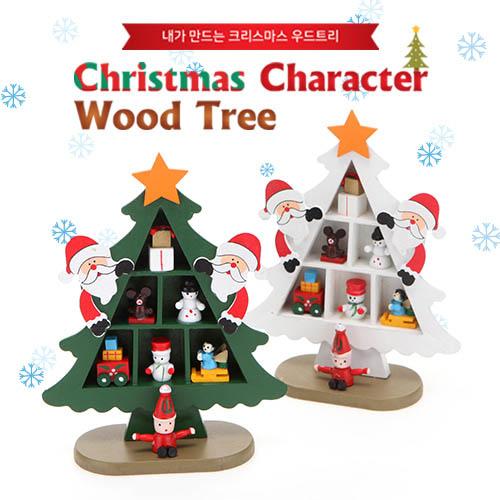 Christmas Character Wood Tree 산타 CMWT1001