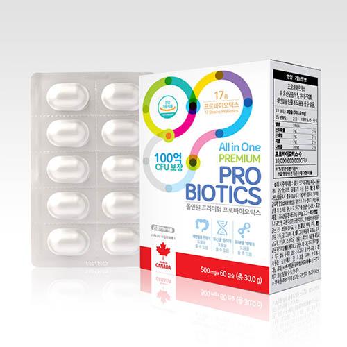 올인원 프리미엄 프로바이오틱스 2달분 30g x 60캡슐