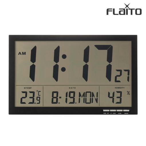 플라이토 F811 디지털 LCD 무소음 전자 탁상 벽시계 36cm