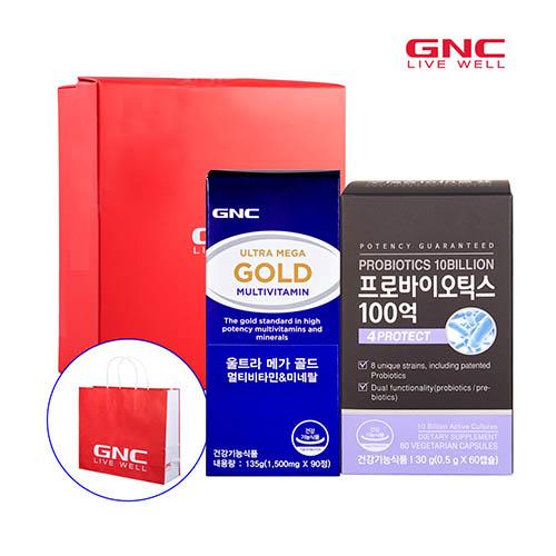 GNC 장건강세트(울트라메가골드 90정 90일분 * 프로바이오틱스 100억 60캡슐 60일분)