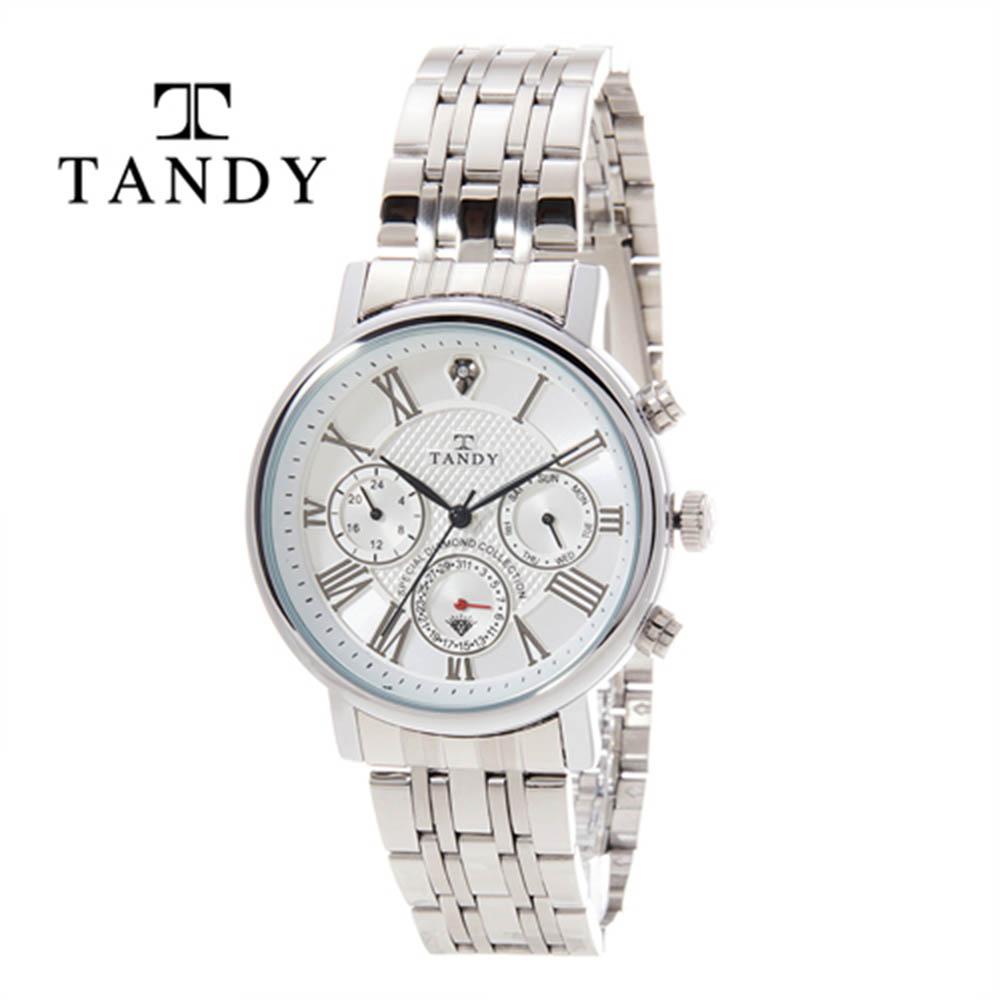 탠디 프린스 다이아몬드 메탈시계 T-3605 WH