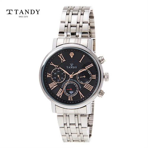 탠디 프린스 다이아몬드 메탈시계 T-3605 BK