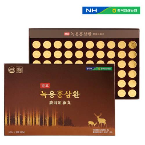 충북인삼농협 발효 녹용홍삼환 3.75g x 60환