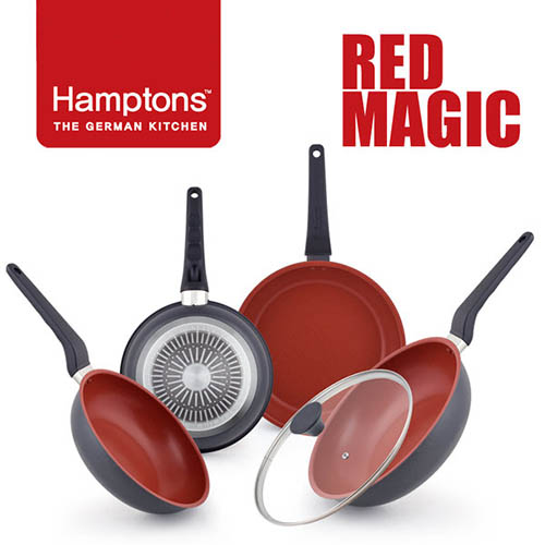Hamptons 독일 햄튼 레드매직 인덕션 후라이팬 5종(24F+28F+24W+28W+28G)