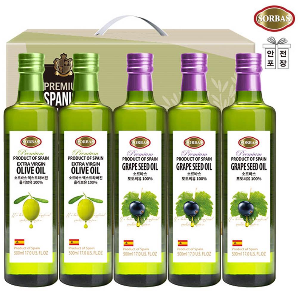 (스페인직수입)소르바스 올리브유2P 포도씨유3P(5종)