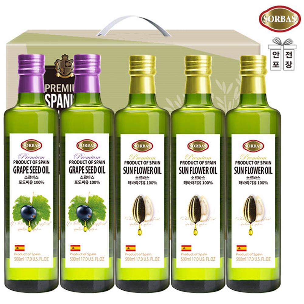 (스페인직수입)소르바스 포도씨유2P 해바라기유3P(5종)