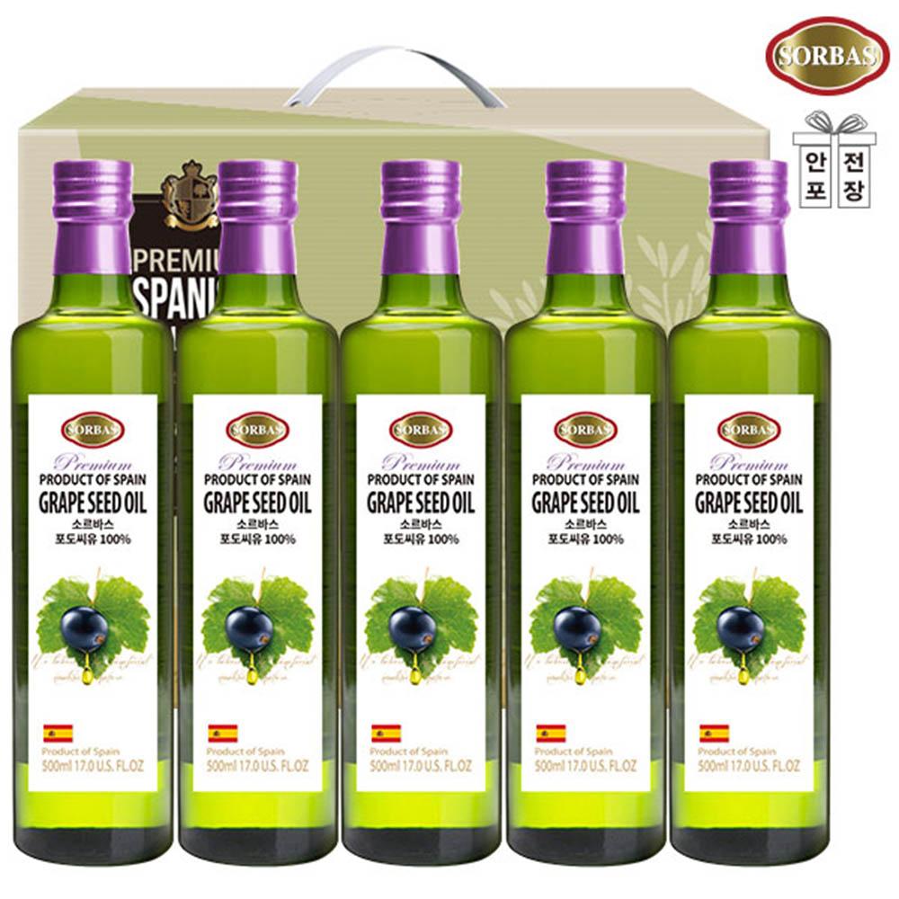 (스페인직수입)소르바스 포도씨유5P(5종)
