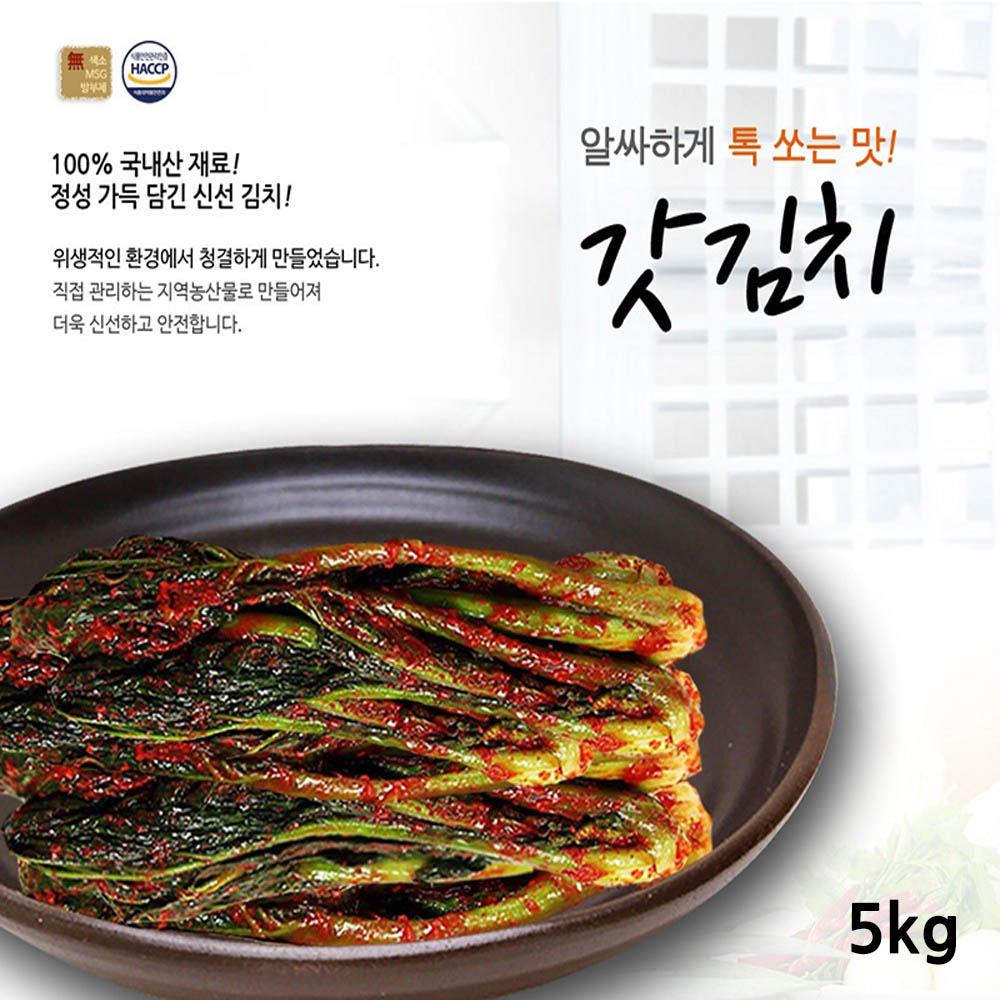 전라도사계절맛김치 갓김치 5kg