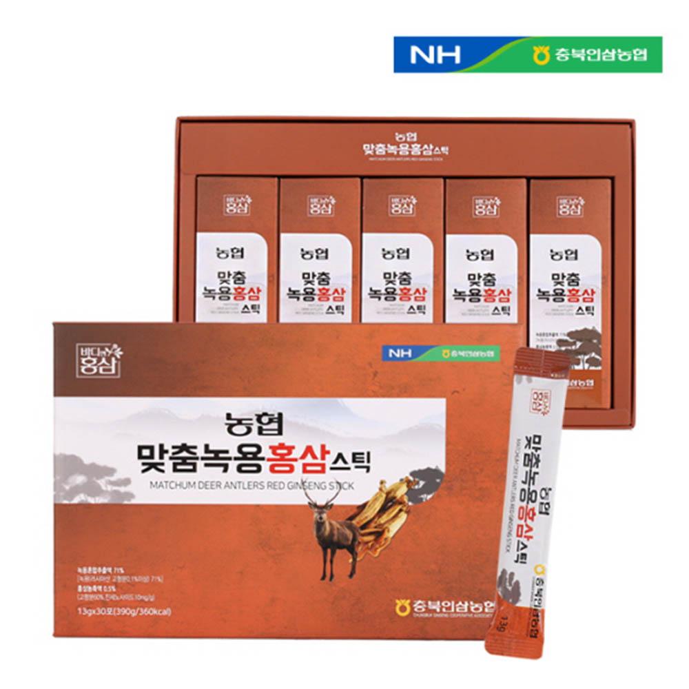 충북인삼농협 맞춤녹용홍삼 스틱 13g X 30포