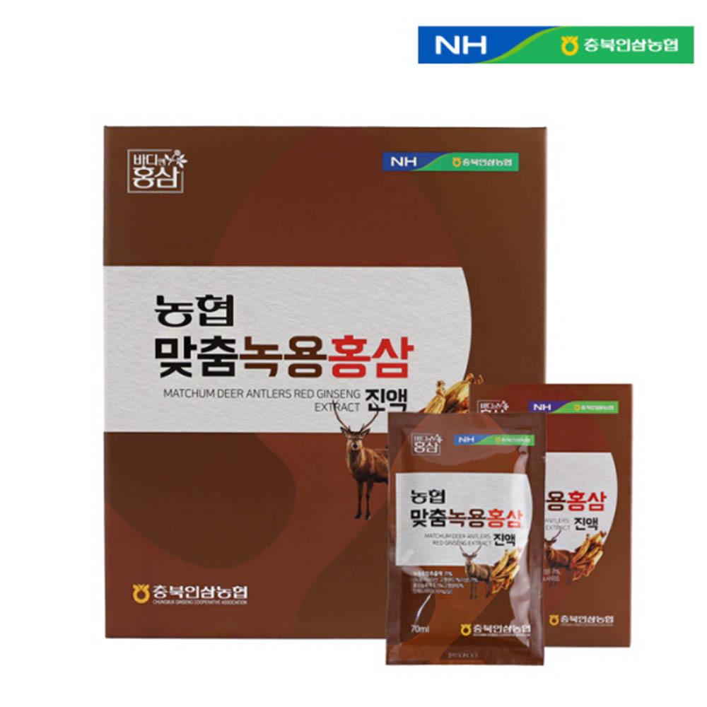 충북인삼농협 맞춤녹용홍삼 진액 70ml X 30포