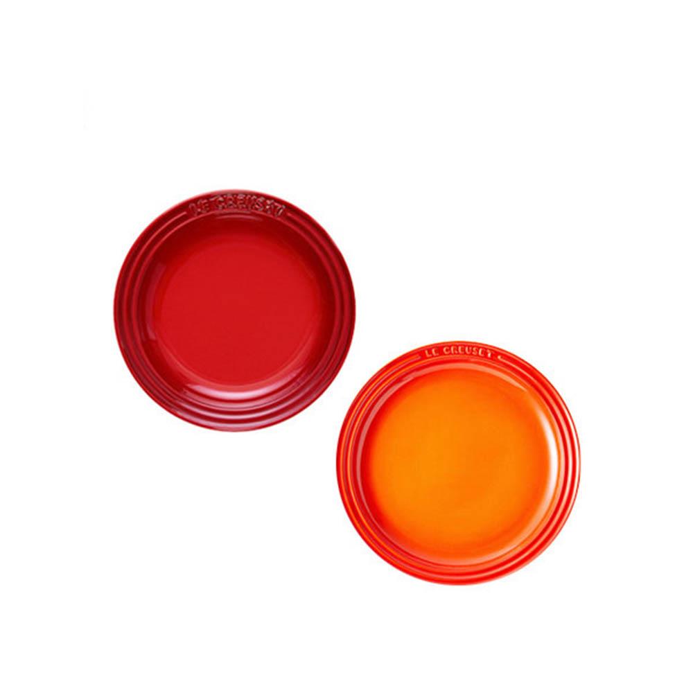 [르크루제] 원형 접시 15cm 2P