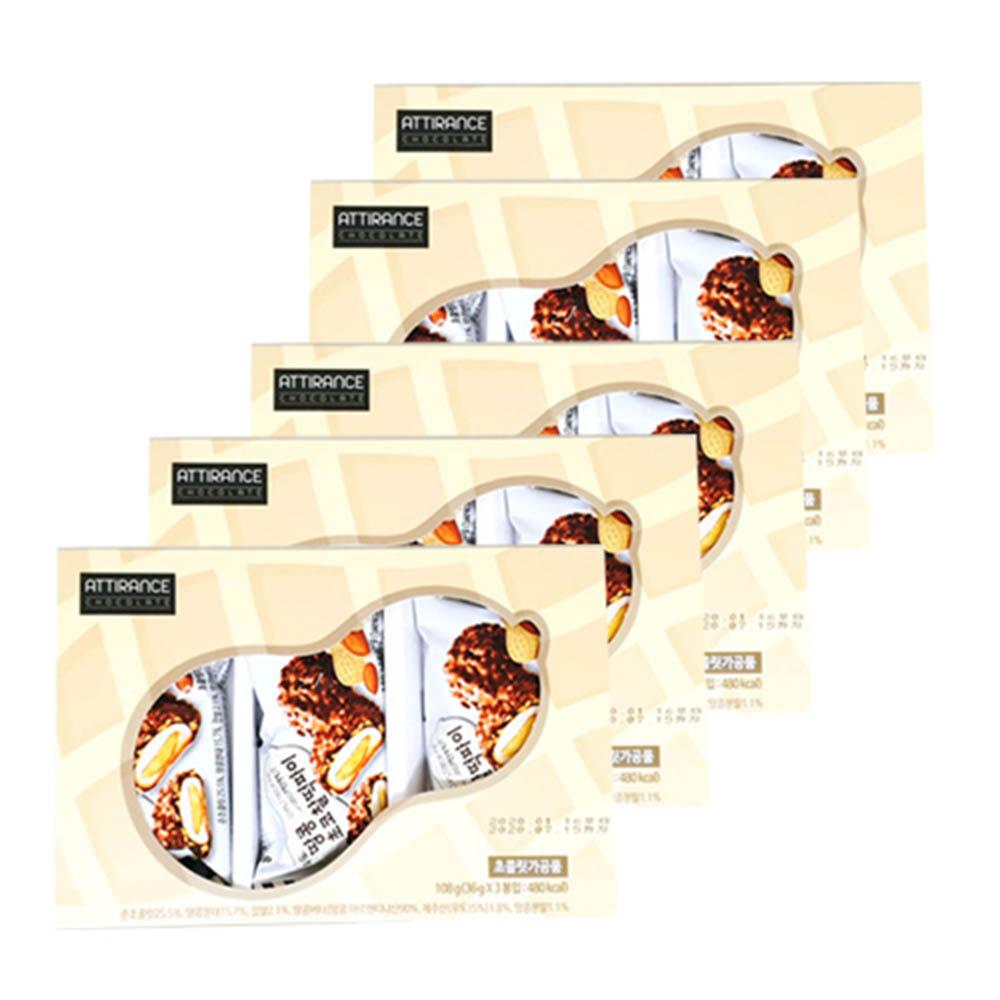 아띠랑스 우도 땅콩 초코찰떡파이 3개입 5세트 (36g X 15봉입)