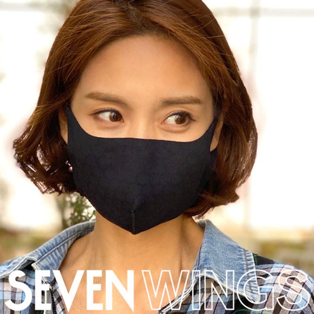 세븐윙스 3D 입체 기능성 마스크/블랙