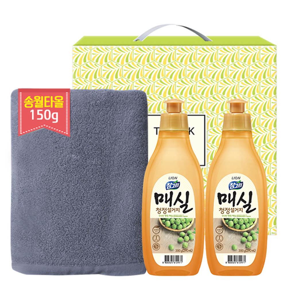 송월 타올150g 참그린매실300용기2P(3종)