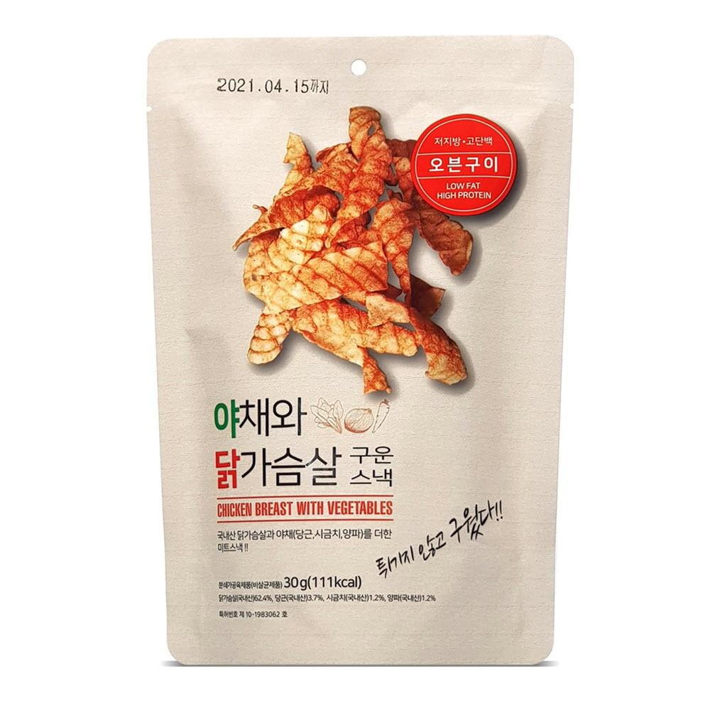 야채와 닭가슴살 구운 스낵 30g * 5봉