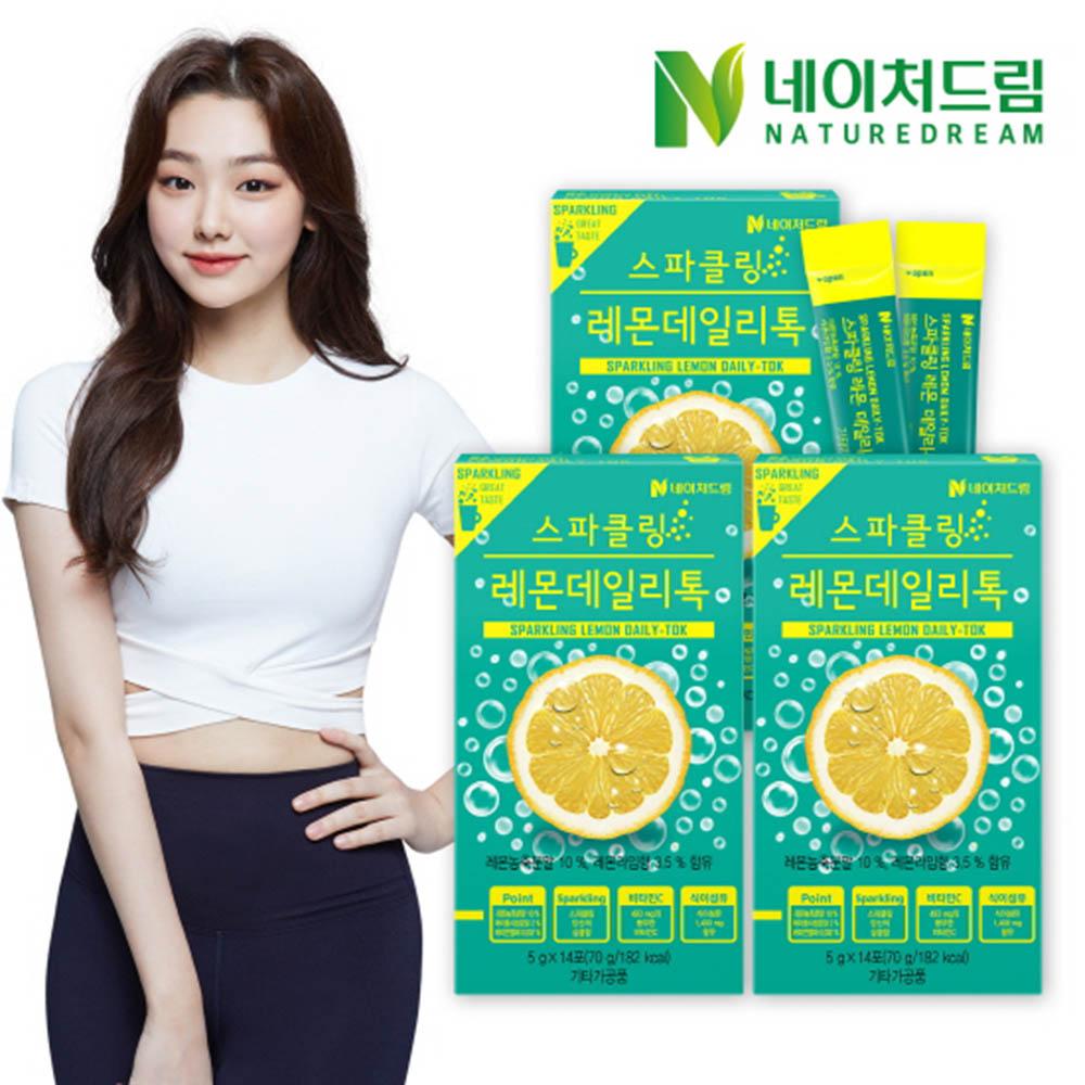 네이처드림 스파클링 레몬데일리톡 5g x 14포 x 3박스