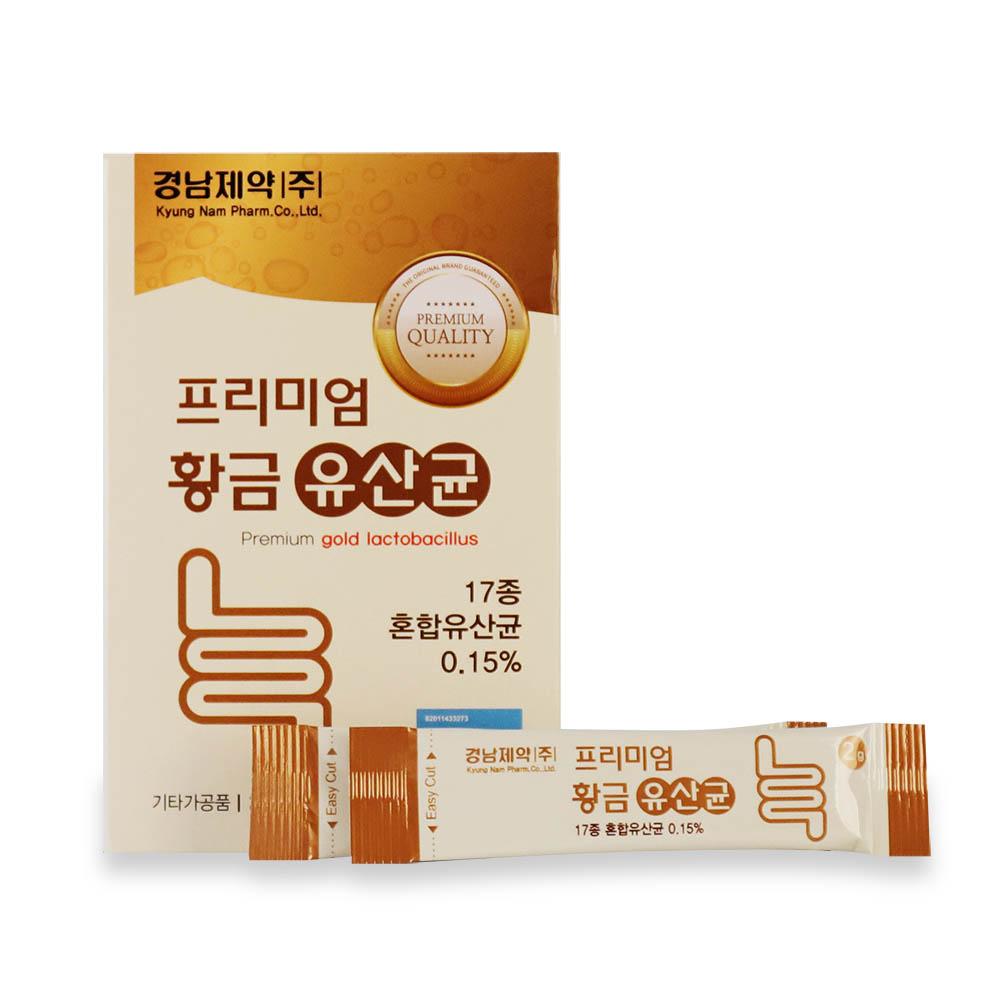 경남제약 프리미엄 황금유산균 2g x 30포 (1개월분)