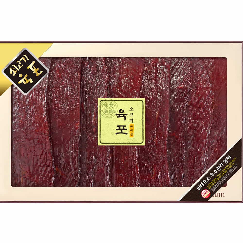 미소향 국내산 소고기 육포세트 700g (편포70g*10)