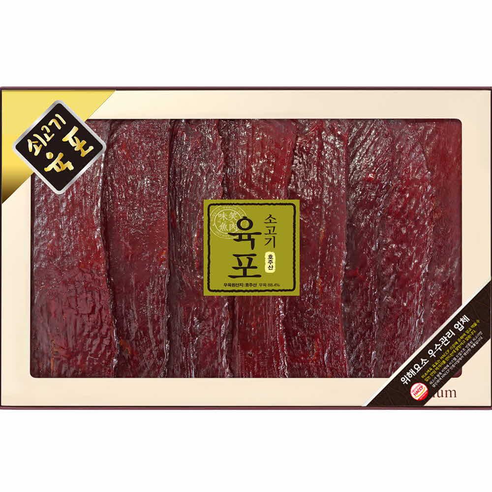 미소향 호주산 소고기 육포세트 560g (편포70g*8)